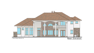 Monte Rosa home design rear elevation