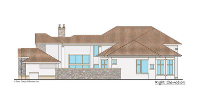 Monte Rosa home design right elevation