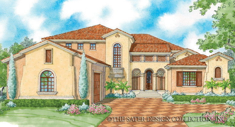 Tre Mori-Front Elevation-Plan #8078