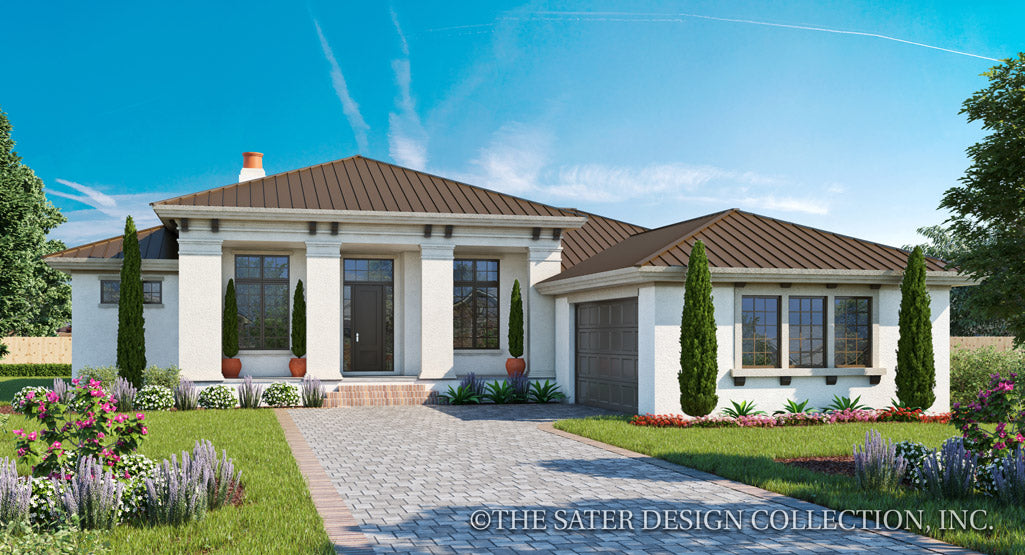 Florida Style House Plans | Sater Design Collection Home Designs on colonial home exterior designs, split level house exterior designs, contemporary house exterior designs, ivory home designs, ranch house exterior designs, custom house exterior designs, rambler with front of garage,