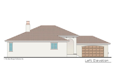Verago home design left elevation