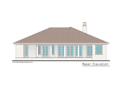 Verago home design rear elevation
