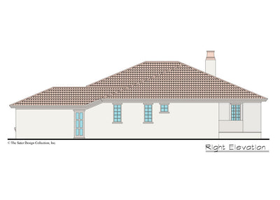 Verago home design right elevation