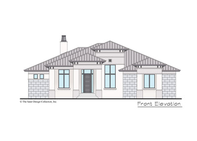 Riverside home design front elevation