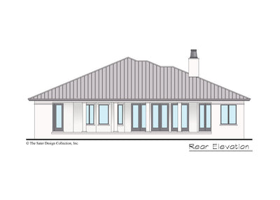 Riverside home design rear elevation