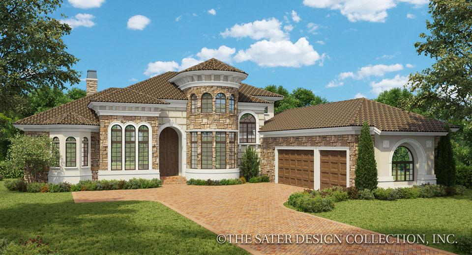 Arlo tuscan style house plan home plans sater design for Custom home plans with pictures