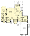 Tuscan style home plans first floor plan