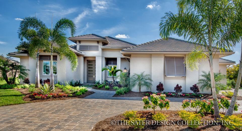 Benjamin contemporary house plan sater design collection for West indian style house plans