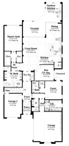 Caspian-Lower Level Floor Plan-Mediterranean Home Plan