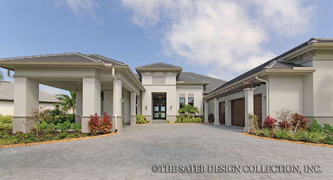 Porte cochere home plans.