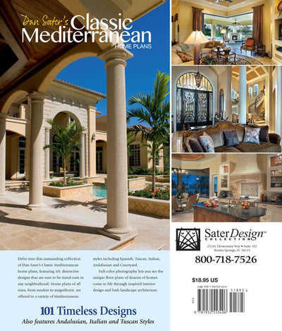 Dan Sater's Classic Mediterranean Home Plans back cover