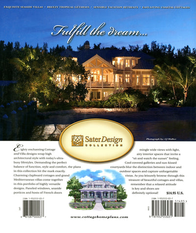 Beautiful Cottages & Villas House Plan Book