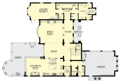 Pulau House Plan, first floor plan