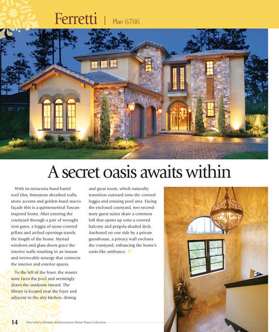Dan sater s ultimate mediterranean home plans for The new ultimate book of home plans pdf