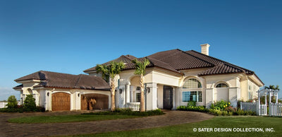 Mediterranean luxury house plan front photo