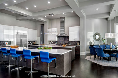 Waters Edge House Plan's kitchen and dining area