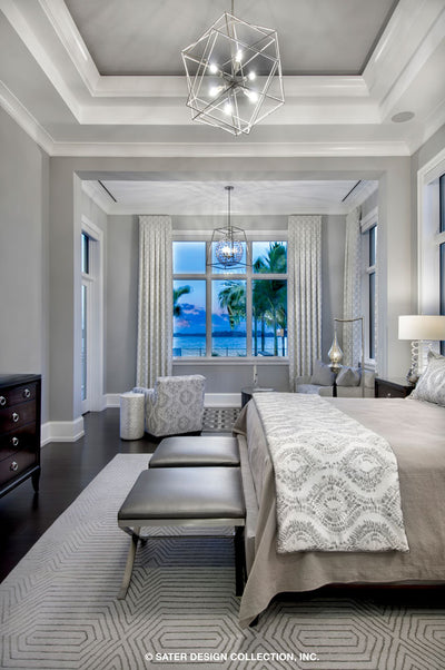 Waters Edge House Plan's master bedroom's sitting area