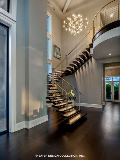 Waters Edge House Plan's masterful staircase