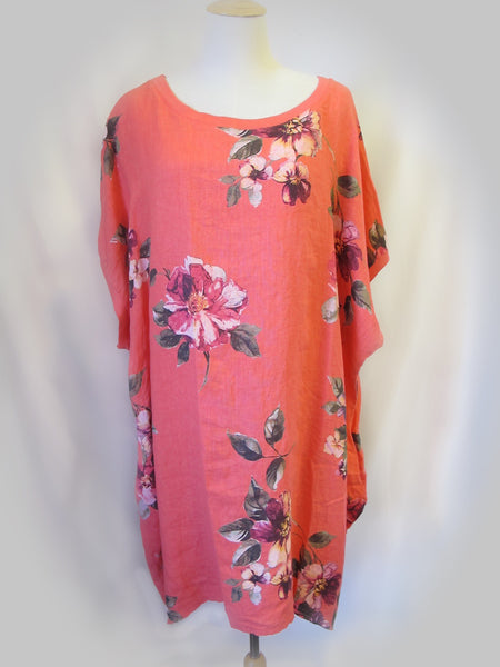 Baggy Tunic - Antique Rose, [product type], Lullaby New Zealand