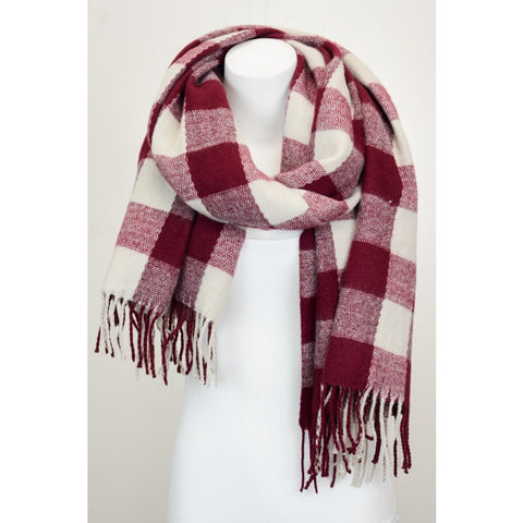 Knitted Checkered Scarf
