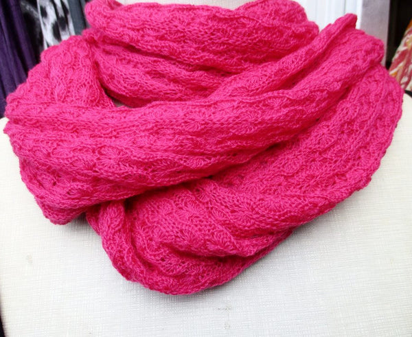Infinity Scarf Merino - Scarf - Pink - Lullaby New Zealand - 1