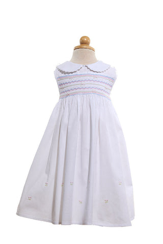 Amelie smocked dress - Dress -  - Lullaby New Zealand