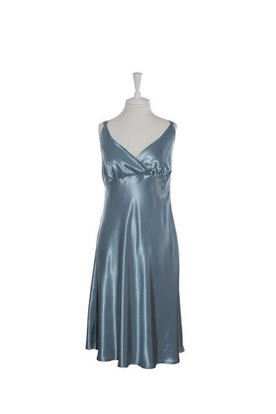 Nightdress Silk Crossover - Nightdress - Small / Blue - Lullaby New Zealand - 5