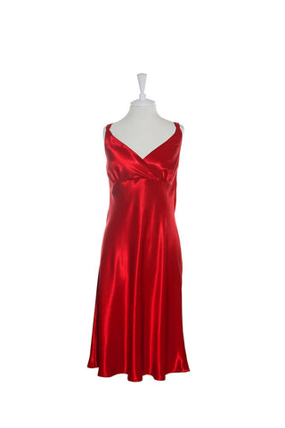 Nightdress Silk Crossover - Nightdress - Small / Red - Lullaby New Zealand - 3