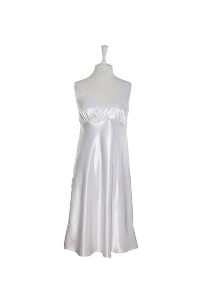 Nightdress Silk Crossover - Nightdress - Small / White - Lullaby New Zealand - 4
