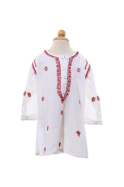 Cotton Top - Top - 1yr / Red / Cotton - Lullaby New Zealand - 3