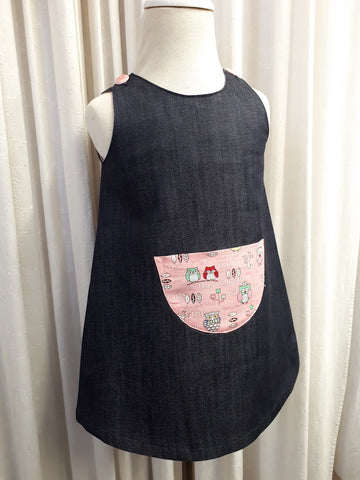 Denim Pinafore, [product type], Lullaby New Zealand