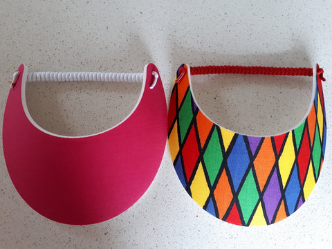 Sun Visors - Harlequin and Cerise, [product type], Lullaby New Zealand