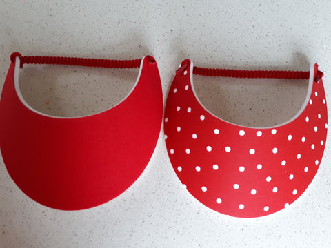 Sun Visors - Red Spot and Red, [product type], Lullaby New Zealand