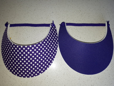 Sun Visors - Purple and Purple Spot, [product type], Lullaby New Zealand
