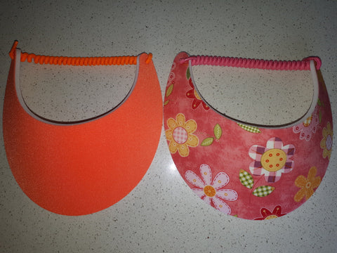 Sun Visors - Coral and Daisy, [product type], Lullaby New Zealand
