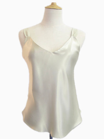 Silk Camisole White, [product type], Lullaby New Zealand