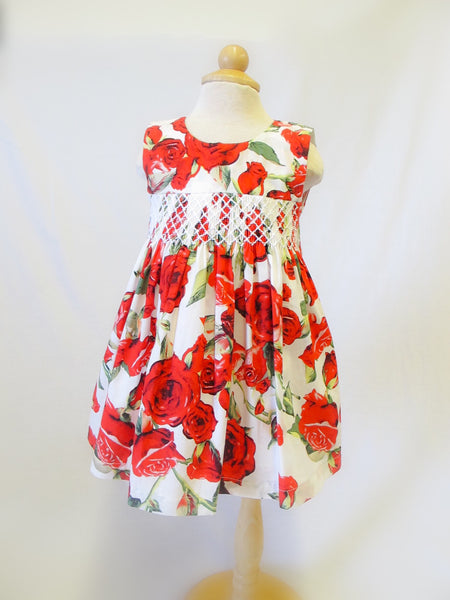 Rose Dress with Smocking, [product type], Lullaby New Zealand