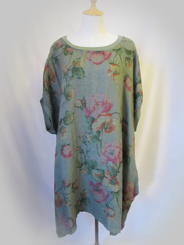 Baggy Tunic -Peony, [product type], Lullaby New Zealand