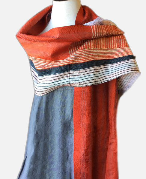 Recycled Silk Sari Scarf, [product type], Lullaby New Zealand