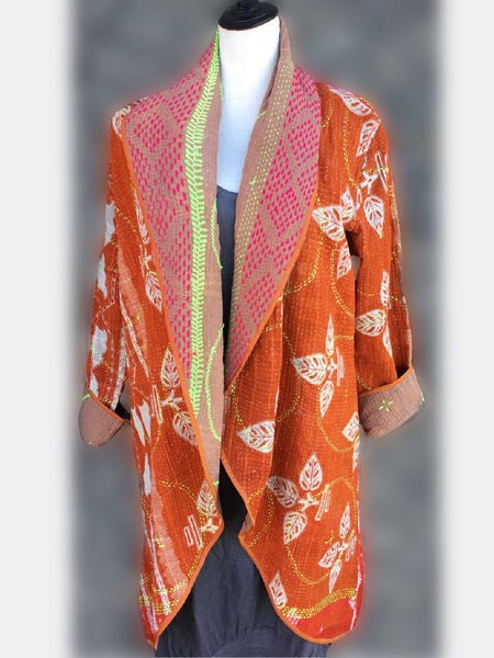 Reversible Coat - Orange, [product type], Lullaby New Zealand
