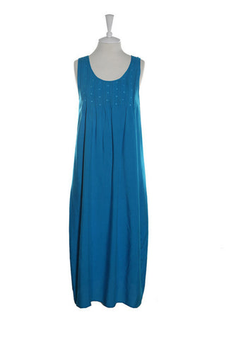 Pintuck Nightdress - Nightdress - Small / Turquoise - Lullaby New Zealand - 1