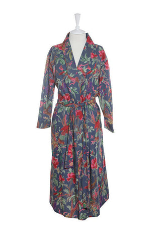 Kimono Bird Robe - Blue, [product type], Lullaby New Zealand