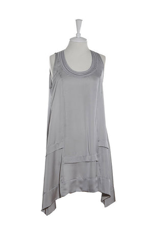 Silver Grey Silk Tunic, [product type], Lullaby New Zealand