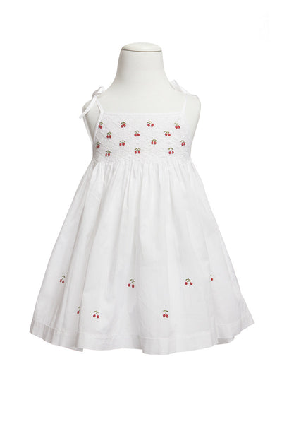 Cherry Smocked Dress, [product type], Lullaby New Zealand