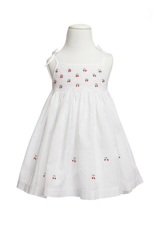 Cherry Smocked Dress - Dress -  - Lullaby New Zealand