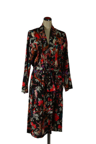 Kimono Bird Robe - Black, [product type], Lullaby New Zealand