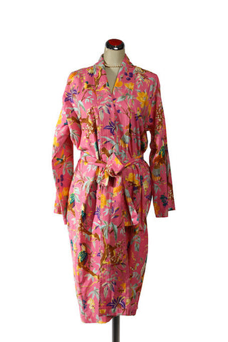 Kimono Bird Robe -  Pink, [product type], Lullaby New Zealand