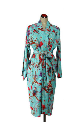 Kimono Bird Robe - Aqua, [product type], Lullaby New Zealand