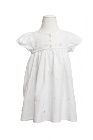 Emma Smocked Nightdress - Dress -  - Lullaby New Zealand