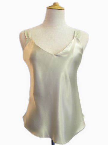 Silk Camisole Champagne, [product type], Lullaby New Zealand